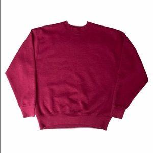 80's Burgundy Sweater